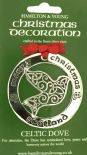 Silver Plated Christmas Decoration Celtic Dove Scotland 0949